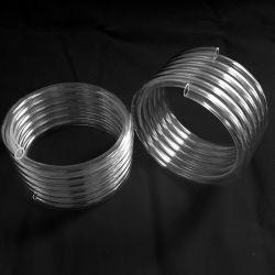 Température élevée du tube de la bobine de quartz silice transparente pour four à moufle
