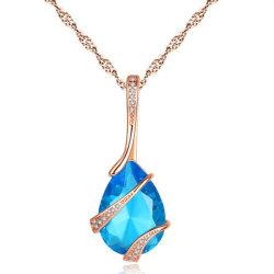 Mode bijoux goutte d'eau Collier Pendentif Zircon cubique AAA Les femmes partie de la mode des cadeaux de Noël
