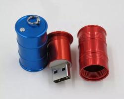 petrol Company 선전용 선물 주문 로고 기름 드럼 모양 USB 섬광 드라이브 Jerrican 모양 USB 지팡이 4GB 64GB