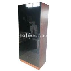 2 Portes en bois brillant UV armoire moderne