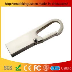스테인리스 스틸 미니 카라비너 USB 플래시 드라이브 메탈 키 링 U 디스크 공장 도매