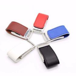Cadeau promotionnel clé USB en cuir Cuir personnalisée OEM U de disque