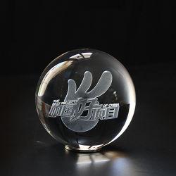 Малые хрустальное стекло шаровой шарнир с внутренней лазерной печати изображения