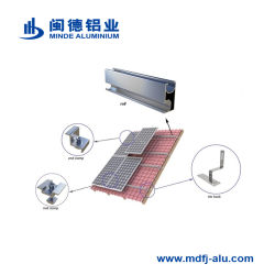 Solar Energyパネルの平屋根の取付金具システム、アルミニウム太陽電池パネルブラケット、太陽電池パネルの据付、屋根の土台