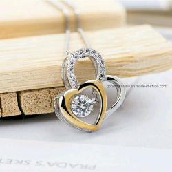 Jóias de 925 Sterling Prata ou Bronze Pendente de pedra de dança danças jóias pingente de coração de pedra
