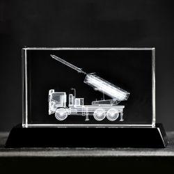 blocchetto di cristallo del laser 3D per i regali di festa (JD-ND-004)