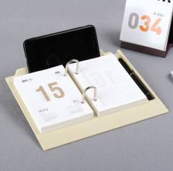 卓上カレンダーのカレンダのオフィスの創造的なロゴはカスタマイズされた印刷の工場価格の自然なパッキングである場合もある