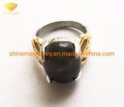 Gietende Ring van het Roestvrij staal van de Halfedelsteen van de Juwelen van het Lichaam van het roestvrij staal de Zwarte (SCR2886)