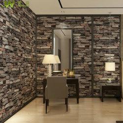 Guangzhou Decoração Vinil PVC 3D Papel de parede a parede
