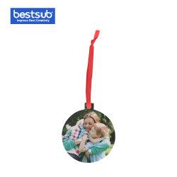 Sublimación Fieltro Navidad Ornamento Colgante bola de árbol Xmax decoración regalo (MZOM05B)