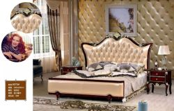 Base piana di lusso intagliata legno francese antico della mobilia della camera da letto di stile