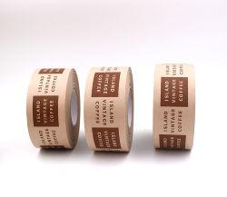 Commerce de gros Water-Activated imprimé personnalisé de l'emballage en papier kraft bande gommée