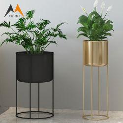 Meilleur design métal moderne personnalisé de gros pot de fleur Stand