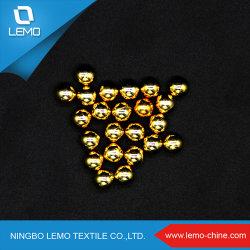 De Oro Pulido sin orificio redondo de color gris perla 5mm de marfil cordones de ABS
