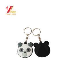 Gebildet im China-preiswerten Großverkauf Weiche-2D Gummi Belüftung-Keychain (YB-PK-5) kundenspezifisch anfertigen Belüftung-3D Keychain Schlüsselring-Schlüssel-Halter