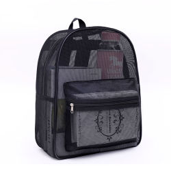 Nouveau design filet à mailles transparente de sac à dos Sac en bandoulière