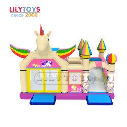 حصان حجر السّامة موضوع طفلة قابل للنفخ ييقفز [بوونسر] مع صغيرة منزلق سعر