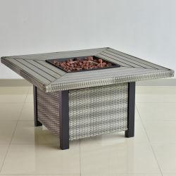 عمليّة بيع حارّ حديثة خارجيّ مربّع [بّق] نار حفرة [ويكر] طاولة لأنّ فناء حديقة ألومنيوم طاولة أثاث لازم