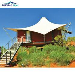 Estrellas de lujo Resort Hotel Carpa con estructura de tracción de la membrana de PVDF