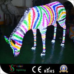 La decorazione di nuovo anno illumina la zebra del LED 3D