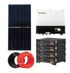 Desligar completa Cinge a fontes de energia 5Kw Hybrid Sistema Solar com bateria para Home