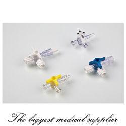 Desechables médicos de la llave de paso de tres vías con/sin tubo