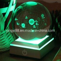 Venda por grosso de fábrica da base de luz LED de acrílico
