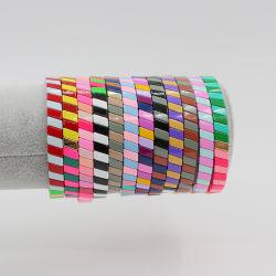Mlgm Emaille Bead Jewelry for Wife Gift 2021 Mode Bohemian Trendy elastisch legering armbanden Groothandel