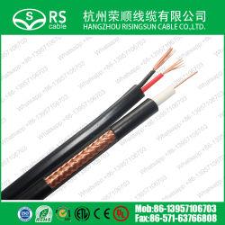 заводская цена высокое качество 18AWG RG59 + 2c сиамских кабель камеры, кабель кабель Premade кабель питания кабель видеонаблюдения для систем видеонаблюдения