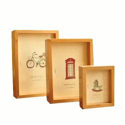 Il blocco per grafici di legno naturale della foto, può fare il marchio sopra