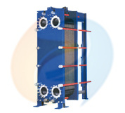المبادل الحراري للإطار على اللوحة المُشكلة في Mx20b لمبرد الزيت (السلسلة B250B)