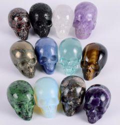 Череп Дракона Septarian драгоценных камней камень Crystal Skull, резные скульптуры картин драгоценных камней, Reiki исцеления каменные статуи