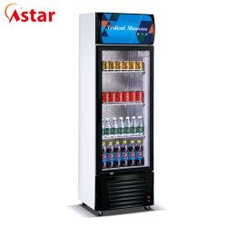 Visualização Vertical Porta Aberta Geladeira Chiller Mostruário de bebidas frigorífico do Resfriador
