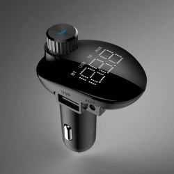 Автомобильный комплект громкой связи Bluetooth с двумя FM-трансмиттер автомобильное зарядное устройство USB