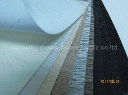 Gewebe gesponnenes Polyester-wasserdichte weiße Beschichtung-flammhemmendes Stromausfall-Vorhang-Gewebe für Fenster-oder Tür-Farbton