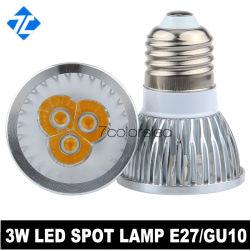 شريحة عالية القدرة 3 واط مصباح LED من الألومنيوم E27/GU10