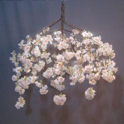 Férias grossista parte interior decorativos decoração Artificial Permanente Cherry Blossom Tree com luzes LED