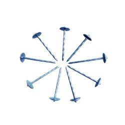 Confezione scatola rame nero ferro alluminio acciaio inox zincato Ottone Chiodi per tetto con testa a ombrello corrugata per tetto