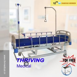 Vier manuelles ICU Krankenhaus-Bett der Kurbel-(THR-MB558)