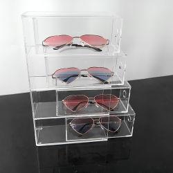 사용자 정의 직사각형 아크릴 유리 케이스 안경창 디스플레이 컨테이너 보관 상자 의 선택을 취소합니다