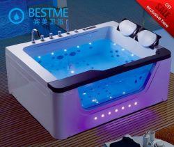Foshan-Luxuxwasserfall-Massage-Badewannen-Doppelt-Person Jaccuzzi mit Basissteuerpult (BT-A1112)