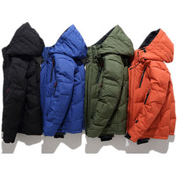 남자 고품질 겨울 옥외 온난한 덧대진 훅부는 사람 바람막이 Quilter는 분리가능한 두건을%s 가진 오리 재킷을 아래로 두껍게 한다