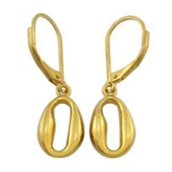 24k plaqué Or Rose Shape Earrings goujons en métal