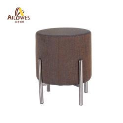余暇の喫茶店棒家具ファブリックシートのステンレス鋼の足止材の腰掛けの椅子