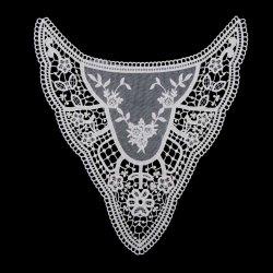 수용성 수용성 화학약인 Lace Collar의 자수