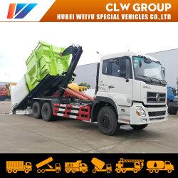 Camion del contenitore dell'immondizia di Dongfeng Kinland Hooklift dell'elevatore dell'amo delle rotelle 16cbm 18cbm 20cbm di trattamento residuo 10