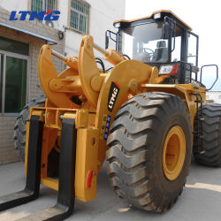 Тяжелого оборудования 22 тонн мрамора вилочный погрузчик колесный погрузчик