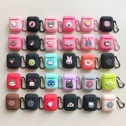 für Silikon-netten Karikatur-Kopfhörer-Kasten Apple-Airpods
