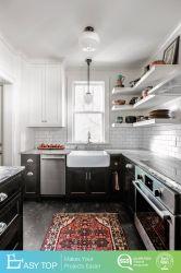 Amostra disponível diretamente da fábrica armário de cozinha de madeira modular com bancadas de granito
