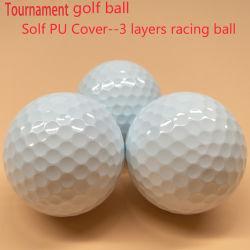 3層のSolf PUのウレタンカバー長距離のトーナメントのゴルフ・ボール